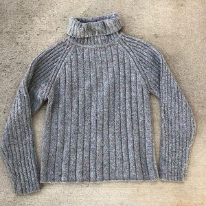 Vintage B. Moss knitted ribbed turtleneck sweater